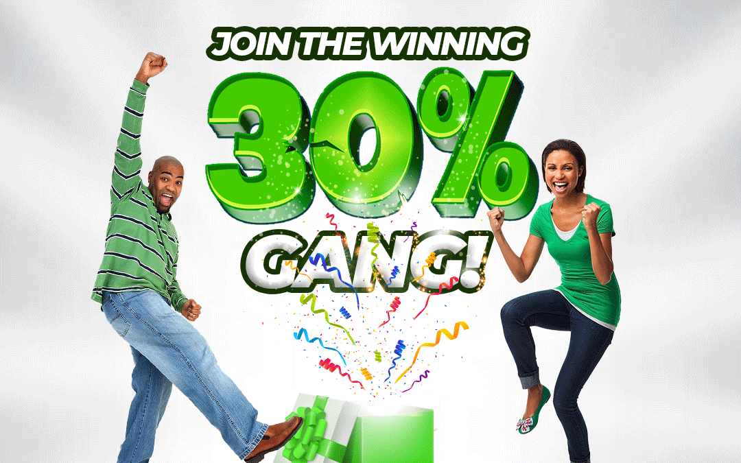 Join the Winning 30% Gang on Jumia